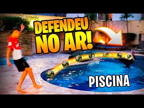 DEFENDEU AS BOMBAS NA PISCINA!!! - DESAFIO NA PISCINA