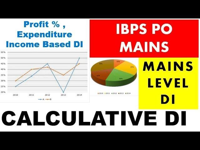 IBPS PO MAINS - DI #Calculative DI - Based on Profit % , Income , Expenditure