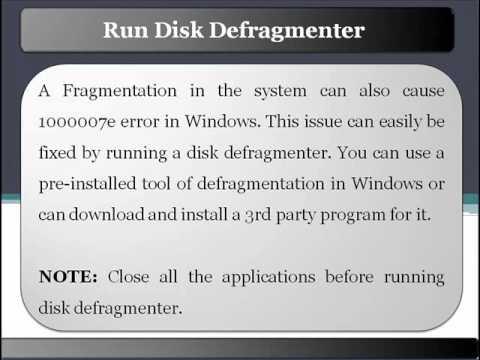 Fix 1000007e Error in Your System