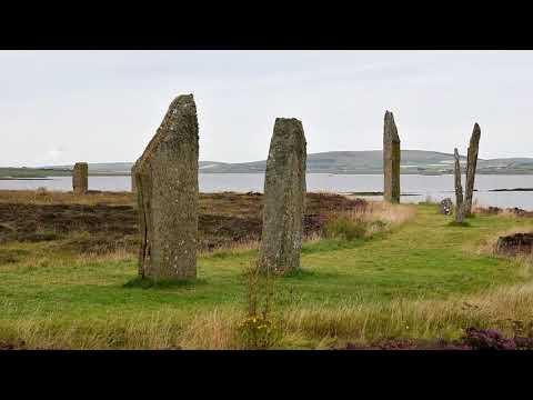 Scozia Agosto 2018: Stenness, Skara Brae Prehistoric Village, Birsay, Orkney, United Kingdom