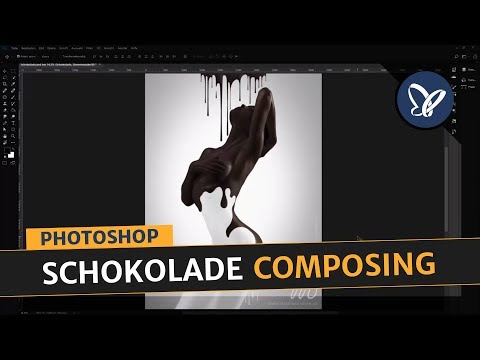 Intro zu Photoshop Tutorial: Kreative Fotomontage erstellen - Körper mit Schokoladenüberzug thumbnail