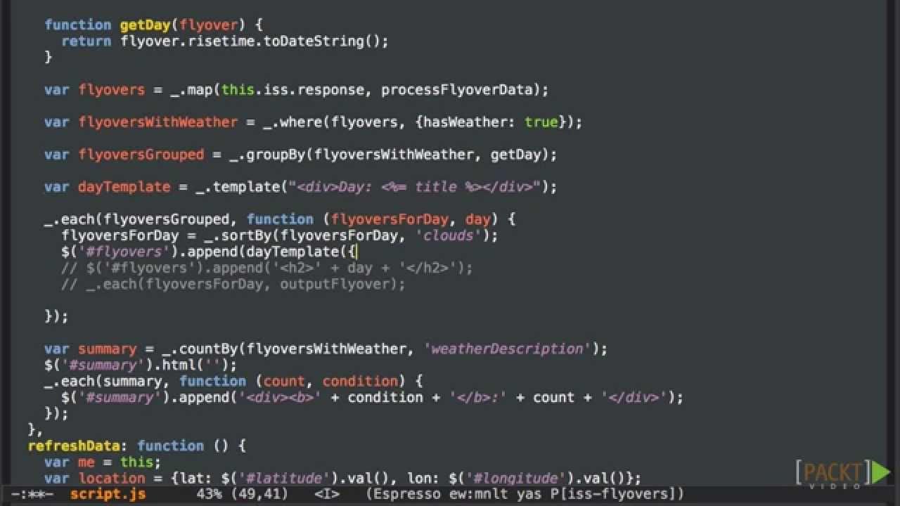 Rapid Underscore.js Tutorial: Templating with Underscore | packtpub ...