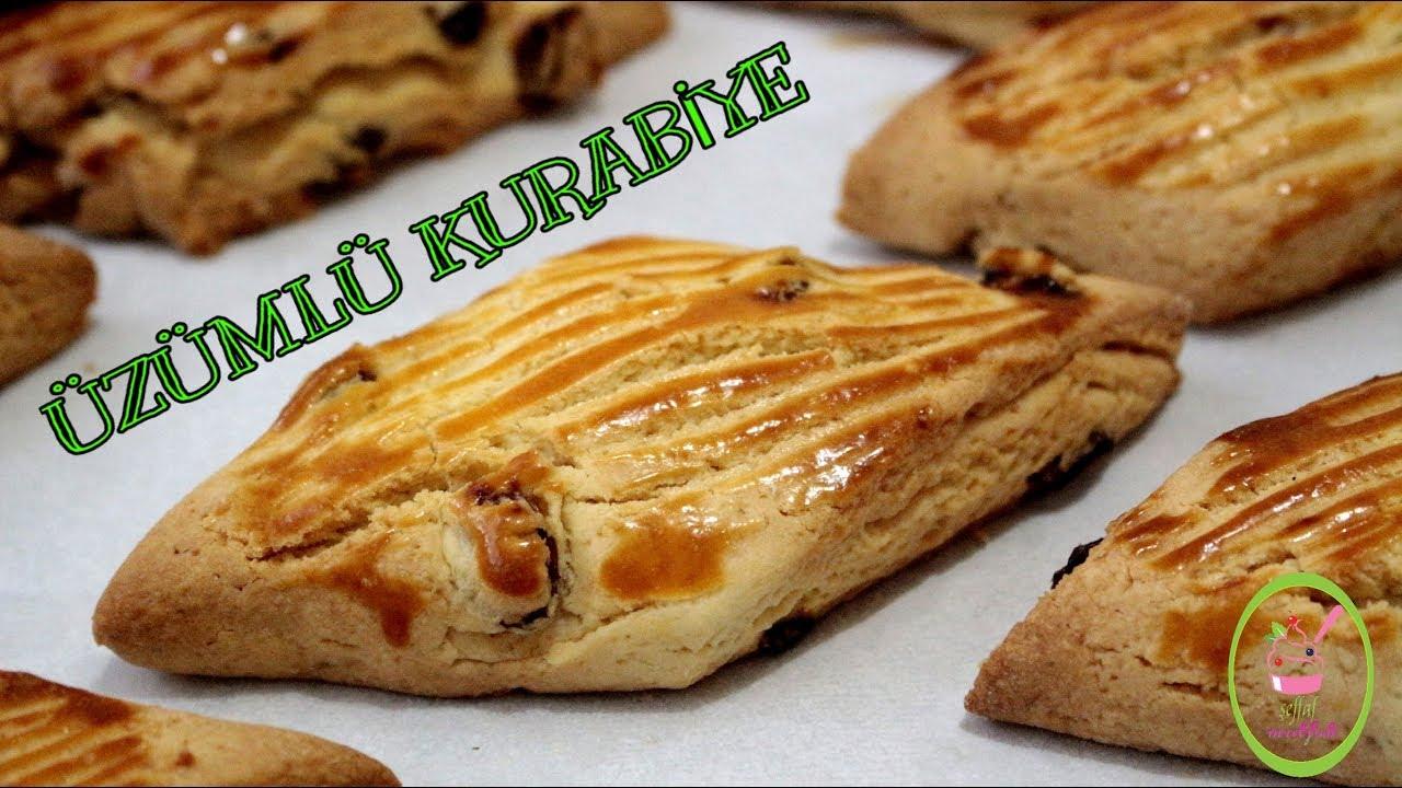 Pastane Usulü Üzümlü Kurabiye Videosu