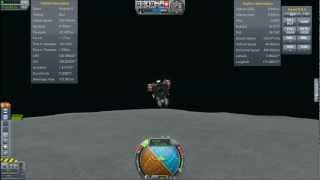 Returning From The Mun With The Capsule-Less lander - Kerbal Space Program