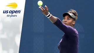 Serena Williams on the 2018 US Open Tennis Practice Courts.