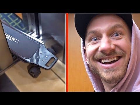 My Electric Skateboard Broke An Elevator!?
