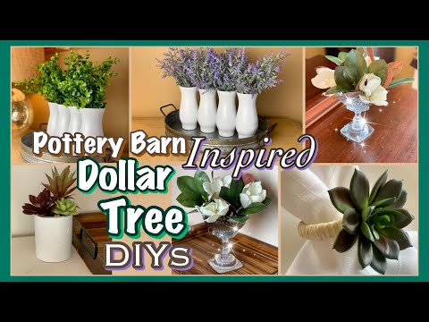 Dollar Tree DIY Decor | POTTERY BARN Inspired