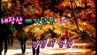 #싱어품바 설녹수#내장산 애기단풍축제!~~~힐링하세요.