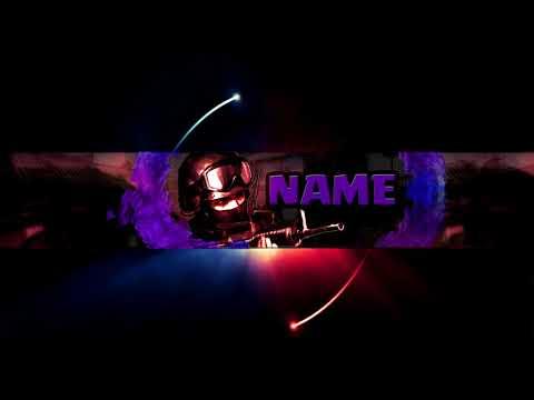 ✅ CS:GO Free Youtube Banner  Template 2018 | Photoshop CS6