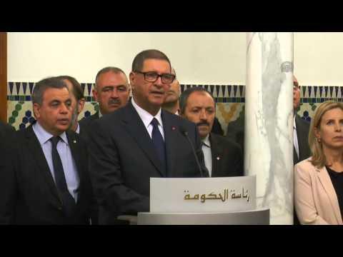 Egyptian Prime Minister Ibrahim Mahlab in Tunisia