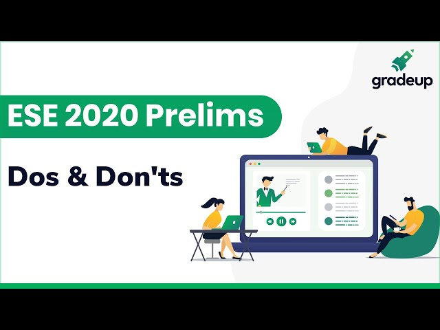 Dos and Donts for IES ESE Prelims 2019 | By AIR 17 Abhishek Shukla