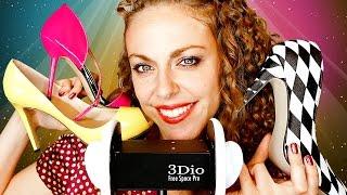 ASMR Binaural Whisper Shoe Haul   Fashion Tingles Ear to Ear Tapping, Scratching