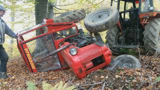 Prevrtanje traktora u šumi _ Tractor crash