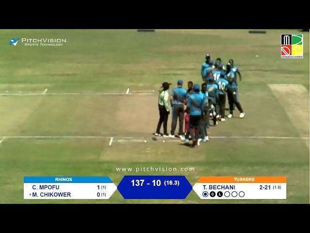 Zimbabwe Domestic T20 | 10th Match | Tuskers vs Rhinos