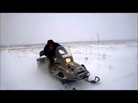 первый день, когда купил снегоход