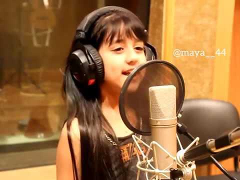 cute baby singing Arabic song