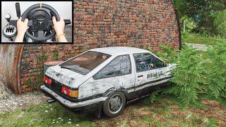 Rebuilding Toyota AE86 - Forza Horizon 4 (Steering Wheel + Shifter) Gameplay