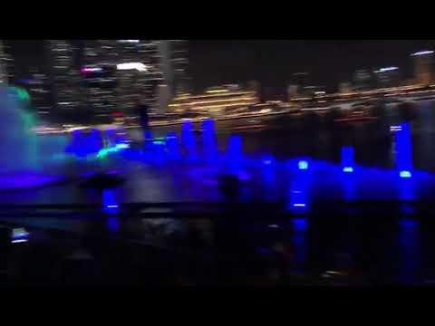 BEST light show in the world  - Marina bay Singapore 2018