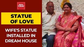 Karnataka Industrialist, Shrinivas Gupta Installs Late Wife's Statue In New Home