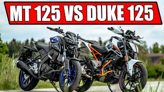 KTM DUKE 125 2020 VS YAMAHA MT 125 2020
