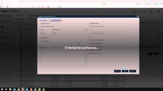 Unitrends 9.0 File Restore