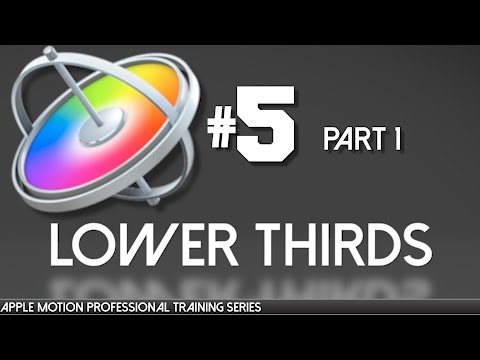 Making Lower Thirds in Motion Part 1 Apple Motion