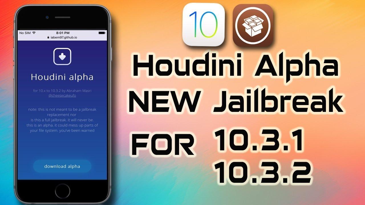 HOUDINI ALPHA New Alternative Jailbreak app Coming Soon For iOS 10 3 1 -  10 3 2 ( 10 3 3 ?! )