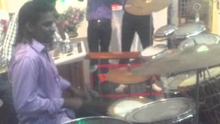 Emil Playing drums solo like sivamani