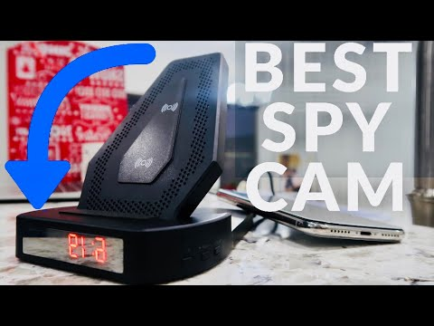 BEST Wireless Charger SPY Camera Clock REVIEW & How To Set Up