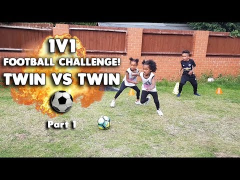 EPIC Twin Vs Twin 1v1 Kids Garden Football Challenge!!