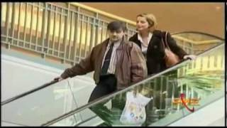 Russian Women kisses men on Escalator  on TV Prank Show - FMO