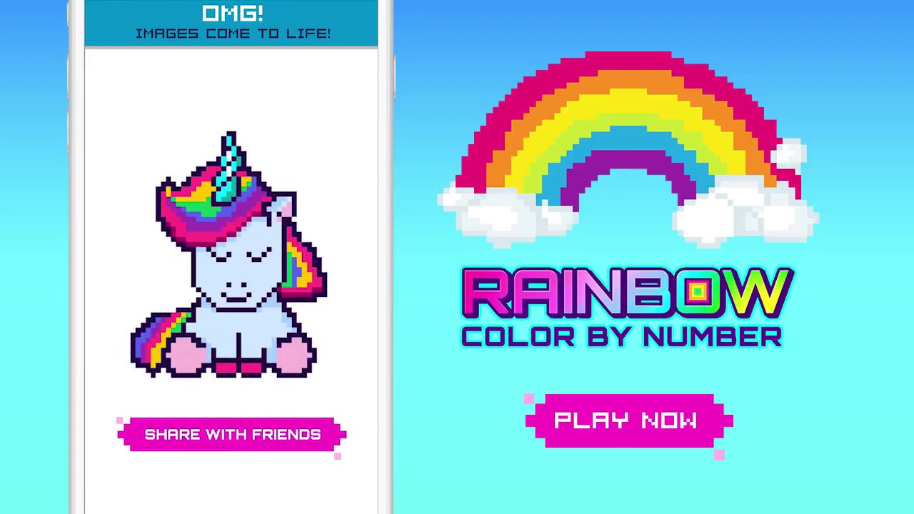 RAINBOW Color by Number | Game Trailer | TabTale - YouTube