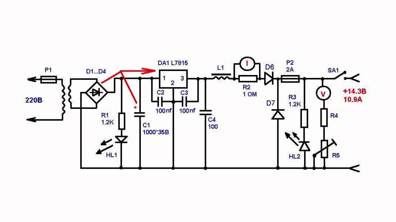 схема зарядного устройства на 20а