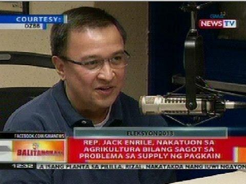 BT: Rep. Jack Enrile, nakatuon sa agrikultura para sa problema sa supply ng pagkain