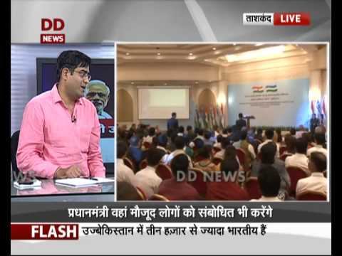 PM Modi in Uzbekistan: Interaction with Indologists, Indian community
