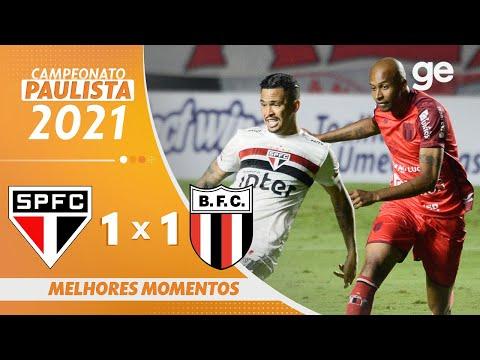 SÃO PAULO 1 X 1 BOTAFOGO-SP | MELHORES MOMENTOS | 1ª RODADA PAULISTA 2021 | ge.globo