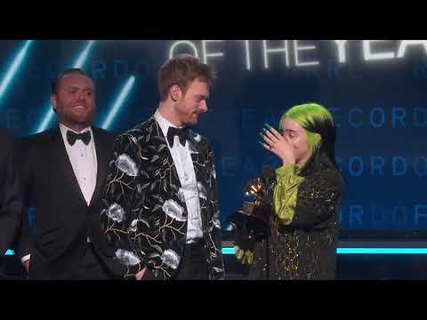 Billie Eilish Wins Record of The Year | 2020 GRAMMYs Acceptance Speech