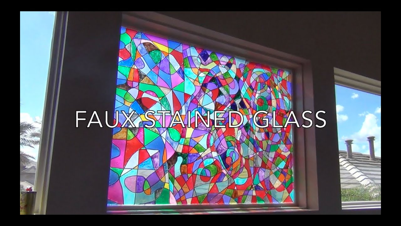 Faux Stained Glass Tutorial   YouTube