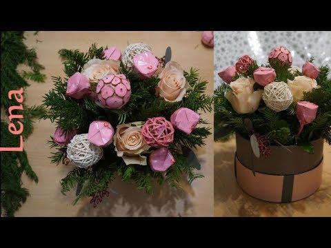 rosen-pralinen-torte-basteln---roses-candy-cake-diy---Торт-из-конфет-и-роз---pastel-de-dulces