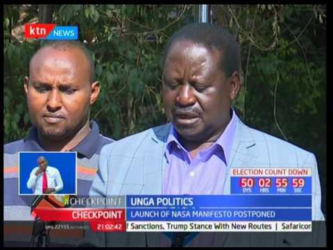 Unga Politics: Launch of NASA manifesto postponed