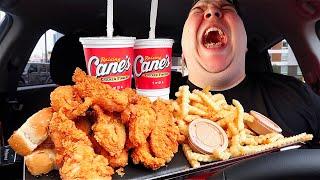 Raising Cane's Chicken Finġers & Fries • MUKBANG