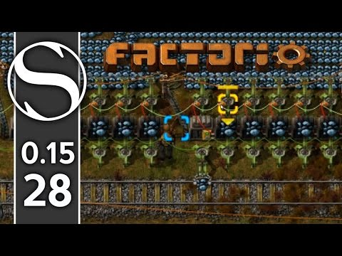 How To Make A Train Outpost   Factorio 0.15 Part 28