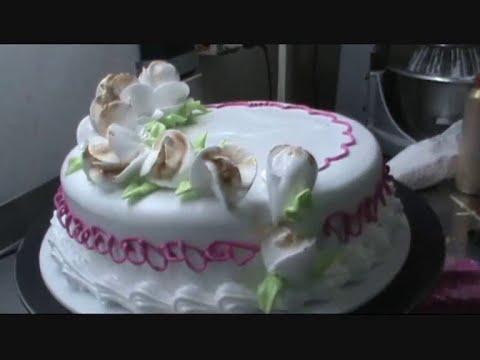 Decoración torta con merengue italiano,técnica de las rosas con el ...