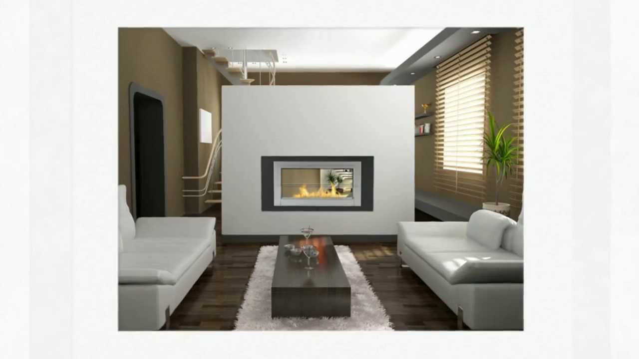 See Through Ethanol Fireplaces - 2 Sided Wall Fireplaces ...
