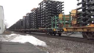 1 24 2015 NS WB truck frames muncie Indiana