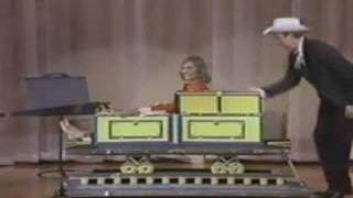 walter blaney performs his version of sawing a lady in half