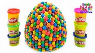 Огромное M&M's Яйцо Сюрприз|Животные для детей|Учим цвета с животными Учим названия и звуки Животных