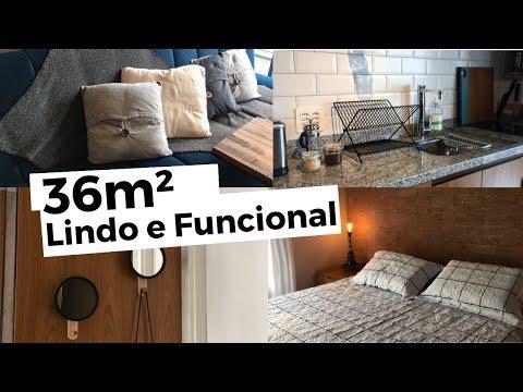 Tour pelo apartamento em São Paulo! 36m² de muita lindeza e funcionalidade! (Airbnb)