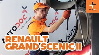 How to change tailgate struts on RENAULT GRAND SCENIC 2 TUTORIAL | AUTODOC