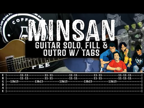 Minsan - Eraserheads (Tutorial: Guitar Solo, Fills & Outro) with ...
